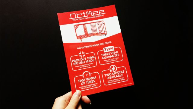 Drimee A5 double sided flyer design and print