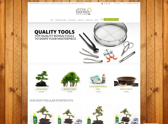 All things bonsai website design and build